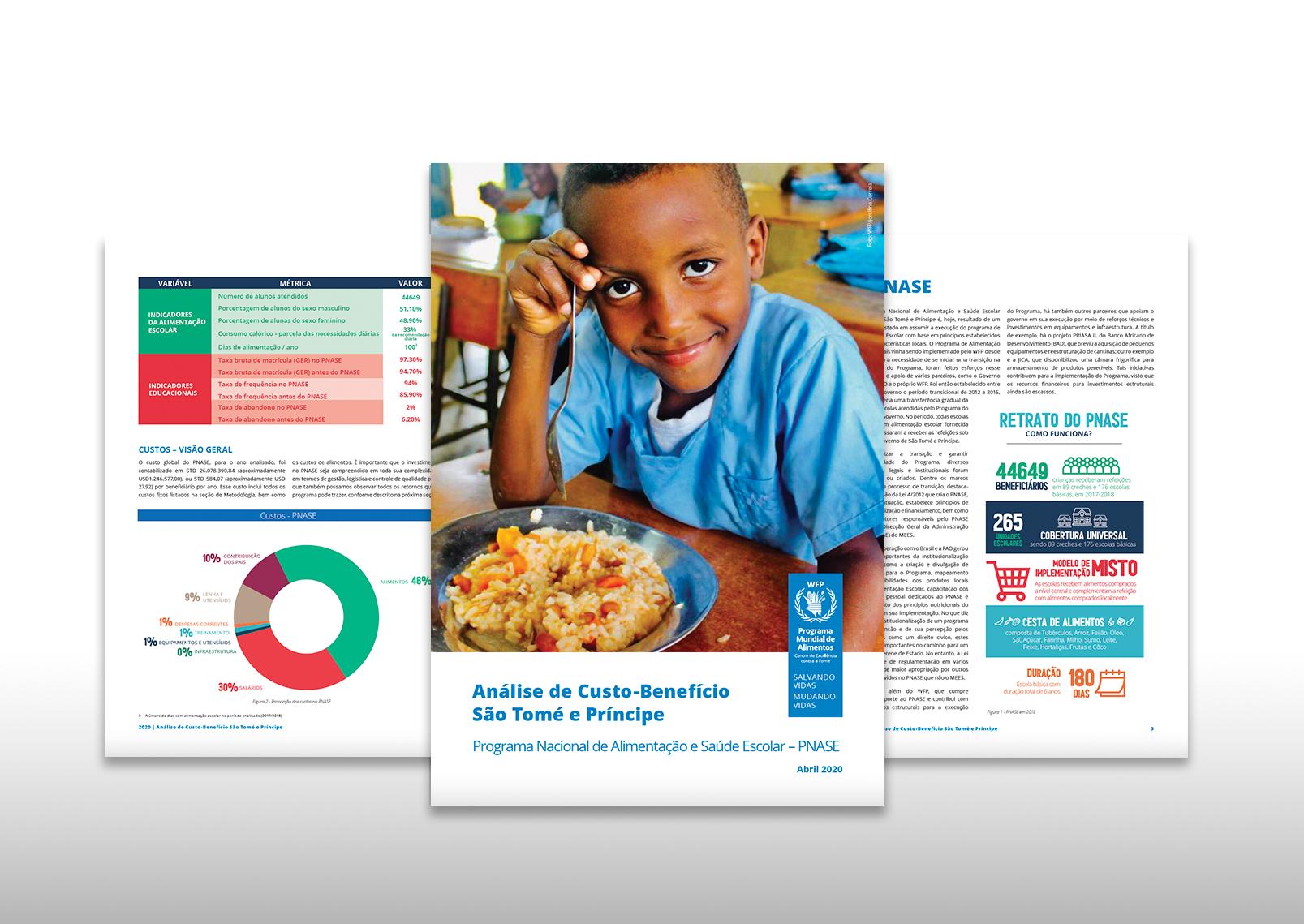 Centro de Excelência do WFP lança publicação sobre alimentação escolar em São Tomé e Príncipe