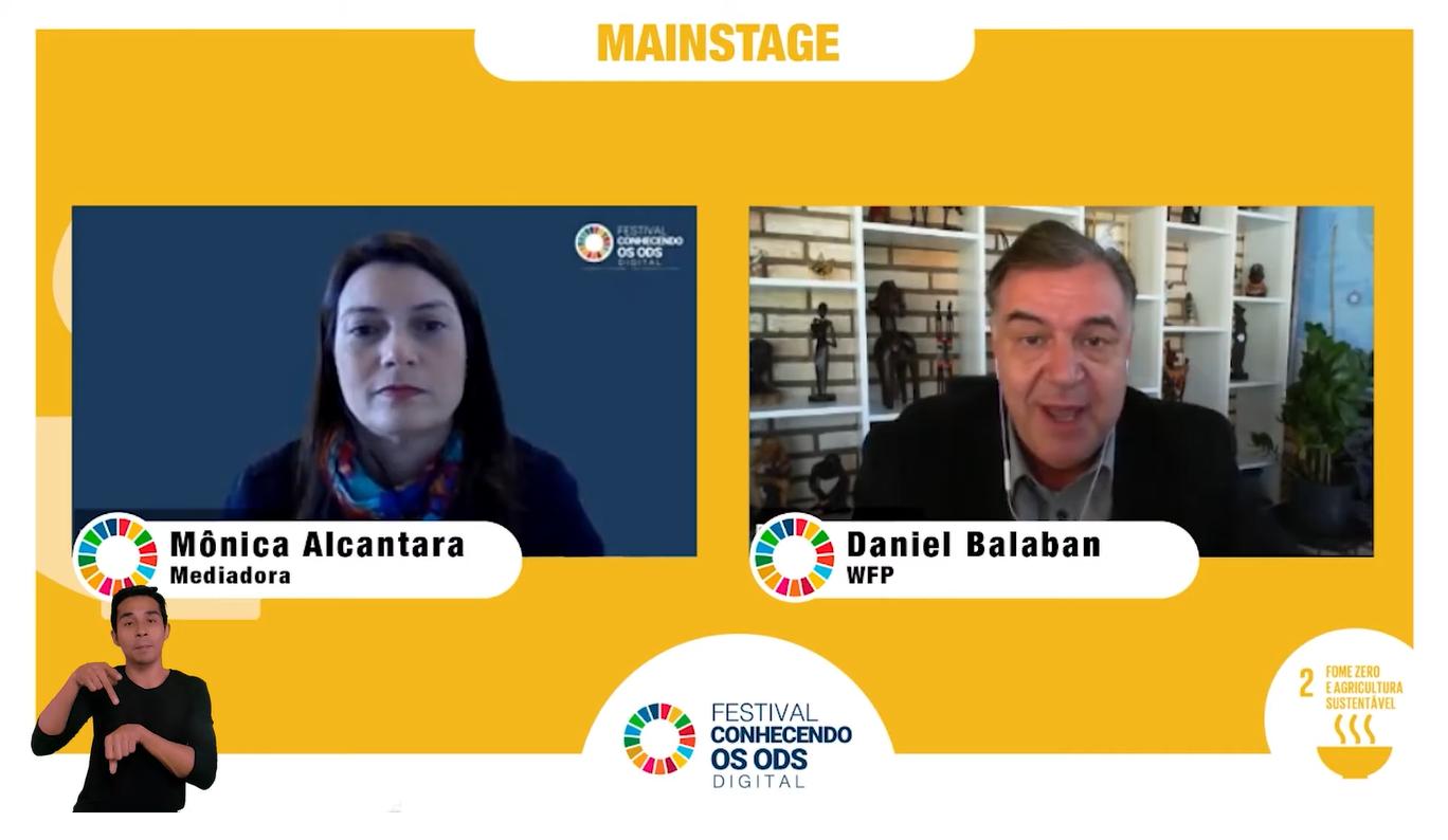 WFP participa de festival virtual sobre os Objetivos de Desenvolvimento Sustentável