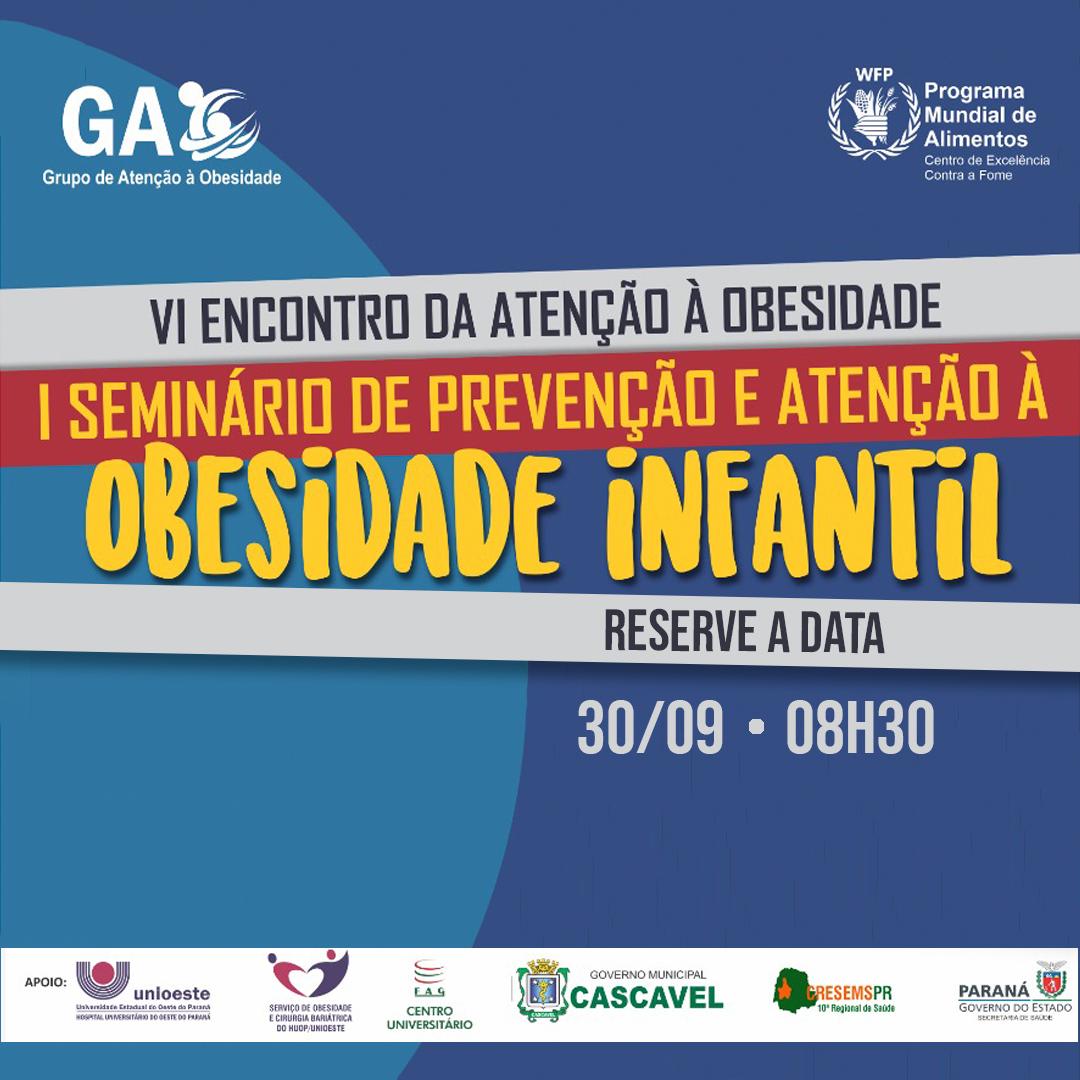 Anote na agenda: I Seminário de Prevenção e Atenção à Obesidade Infantil