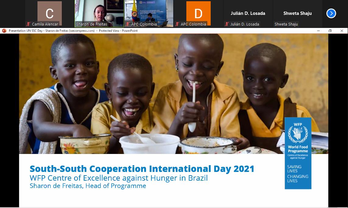Centro de Excelência do WFP participa de evento para comemorar o Dia das Nações Unidas para a Cooperação Sul-Sul