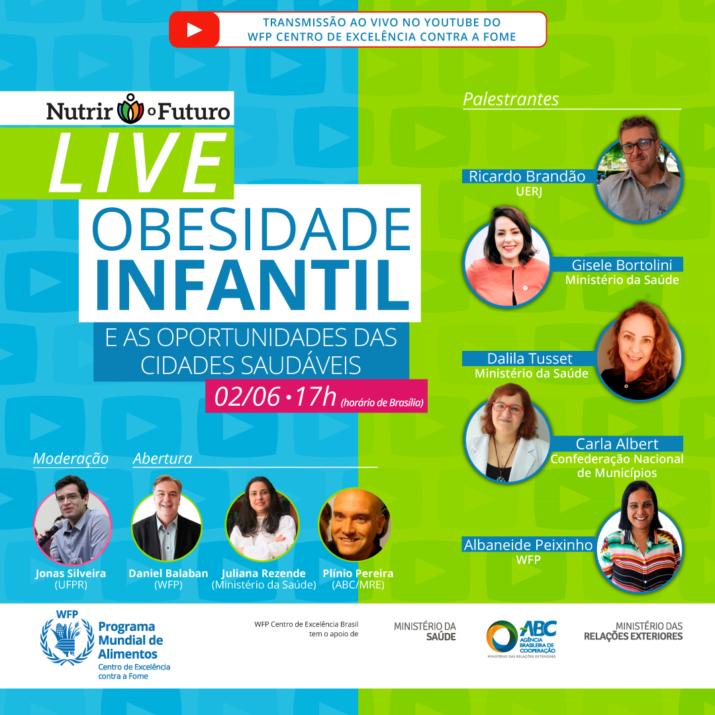 Ministério da Saúde, WFP e ABC promovem live sobre Obesidade Infantil e Cidades Sustentáveis